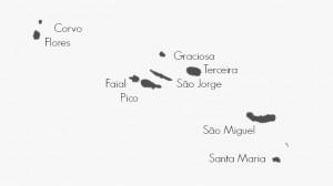 Azoren Karte